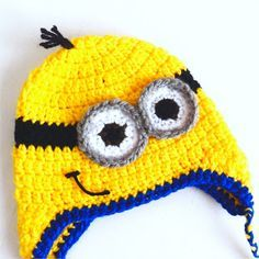 gorro de minion a crochet - paso a paso  35256f7c9be