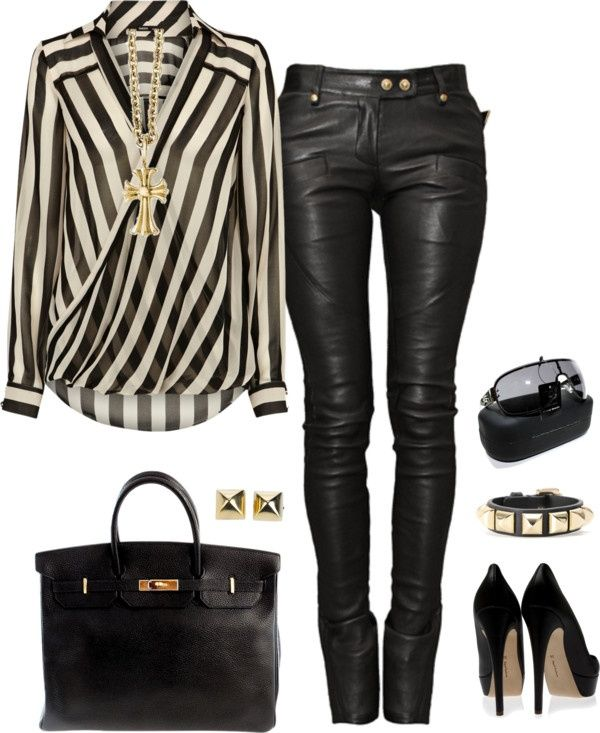 fad44bd9f 25 Sexy Leather Outfit Ideas for Winter
