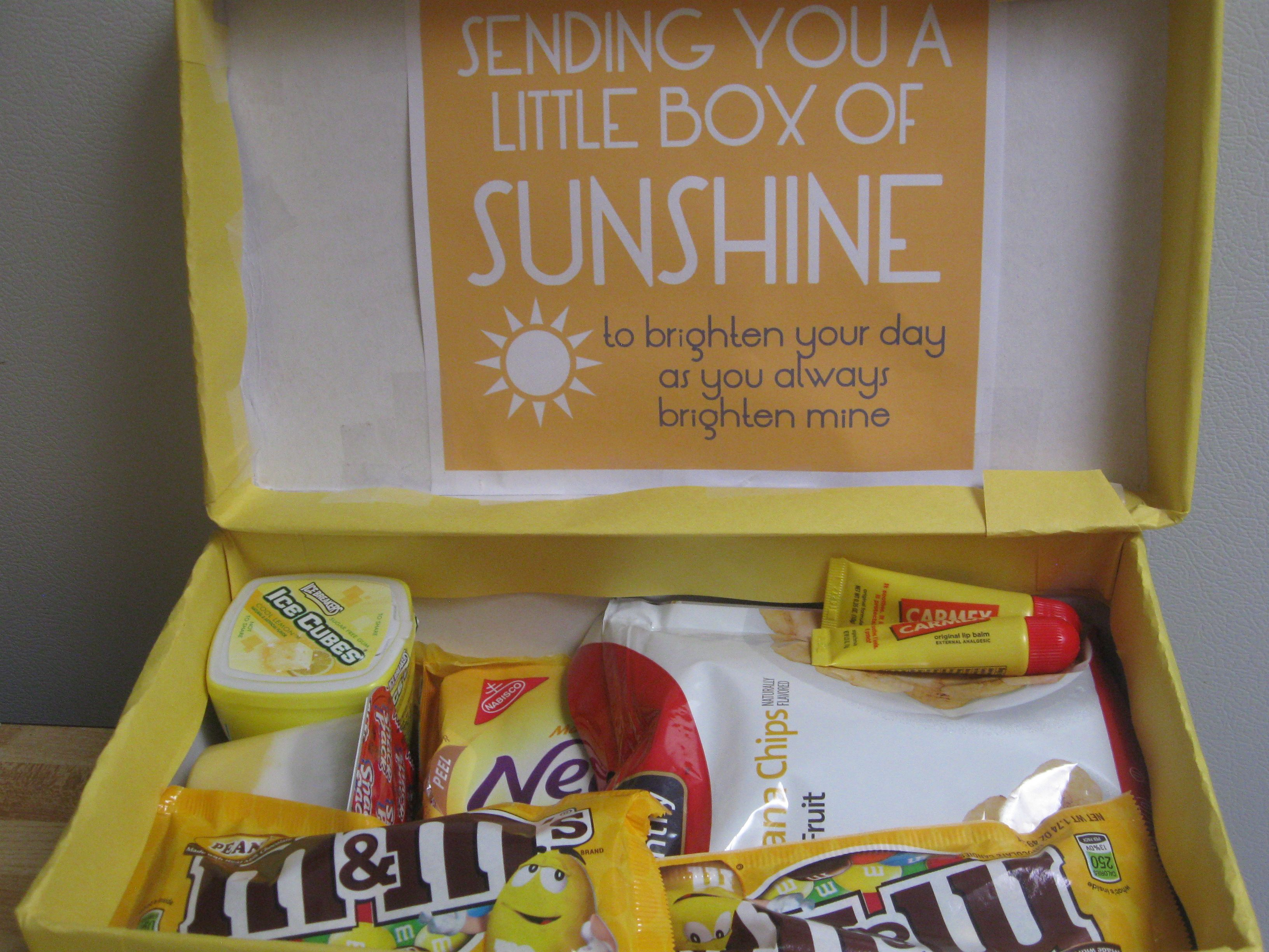 Sending you a little box of sunshine to brighten your day as you always brighten mine. (Came out real cute!)