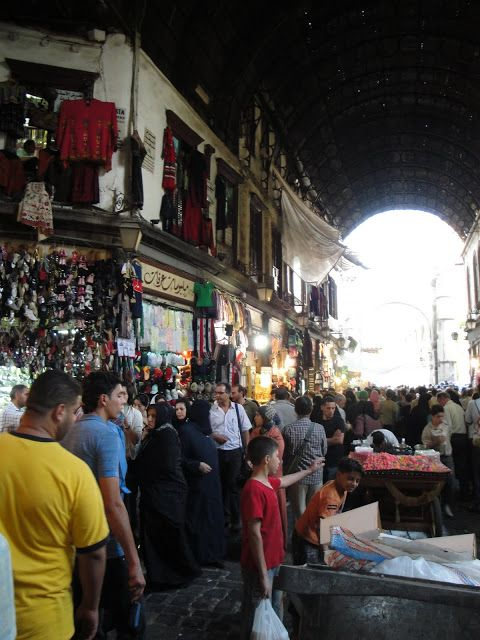 Hamidiye çarşısı fotoğrafları Şam Suriye. (Hamidiye bazaar / Damascus Syria)