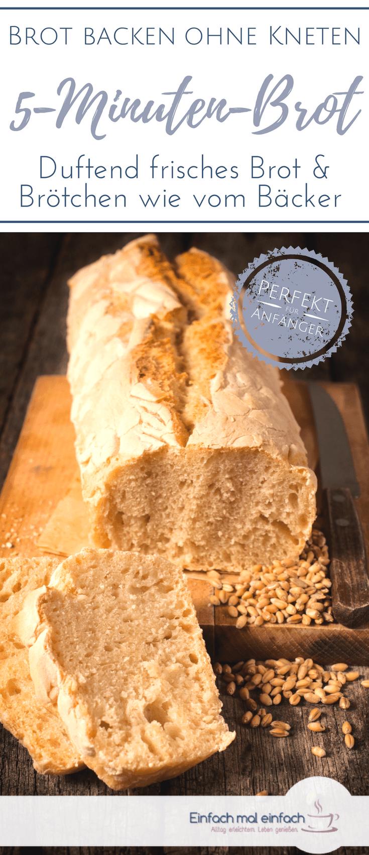 Brot backen mit nur 5 Minuten Aufwand