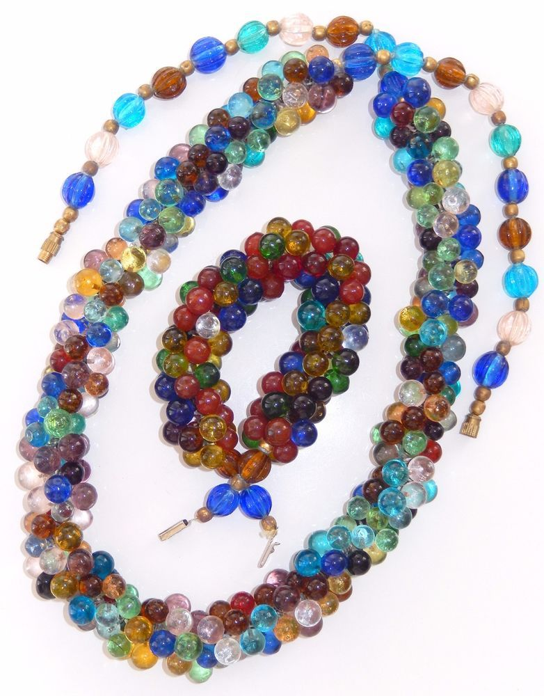 Hand wired necklace with glass beads