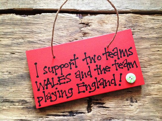Handmade Welsh Two Teams Rugby Plaque Sign Great Gift Handmade Presents For Teachers Plaque Sign