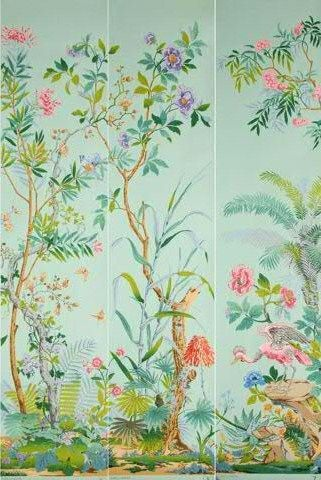 D cor chinois partie de d cor panoramique manufacture for Papier peint motif chinois
