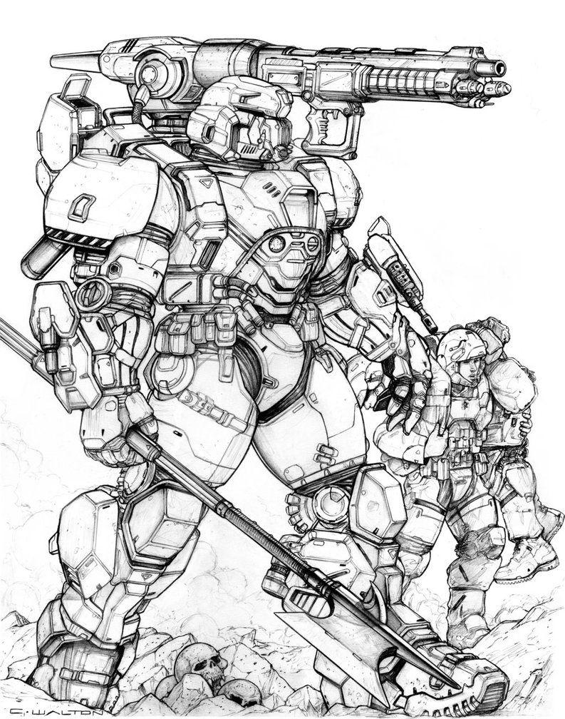 RIFTS NG Midas Power Armor by ChuckWalton on DeviantArt