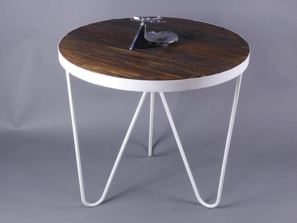 FIFTIES GARDEN COFFEE TABLE HAIRPIN LEGS RUNDER GARTEN BEISTELLTISCH ...