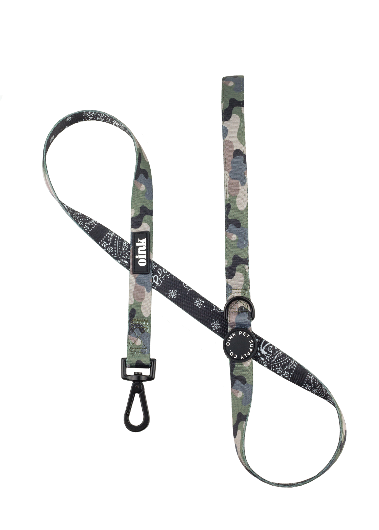 Oink 4ft Army And Bandana Patterned Dog Leash