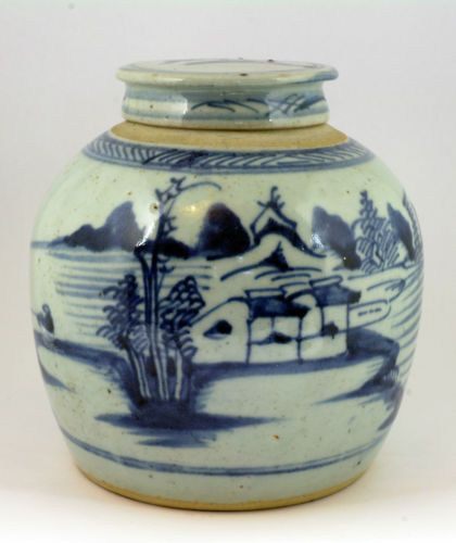 Antique 18th Century Chinese Blue Amp White Ginger Jar Vase