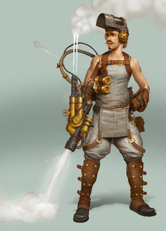 Steampunk Star Wars Character Illustration Series by Björn Hurri