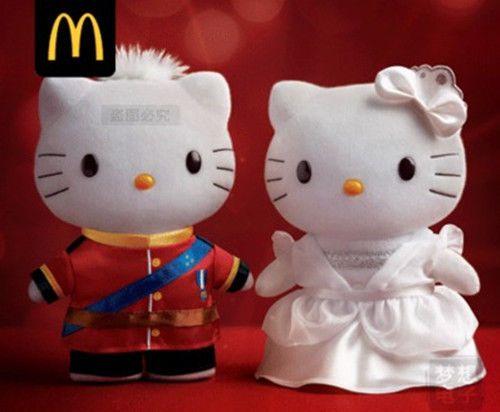 Hello Kitty Mcdonald S Toys : Mcdonald s hello kitty daniel couple royal dress plush doll