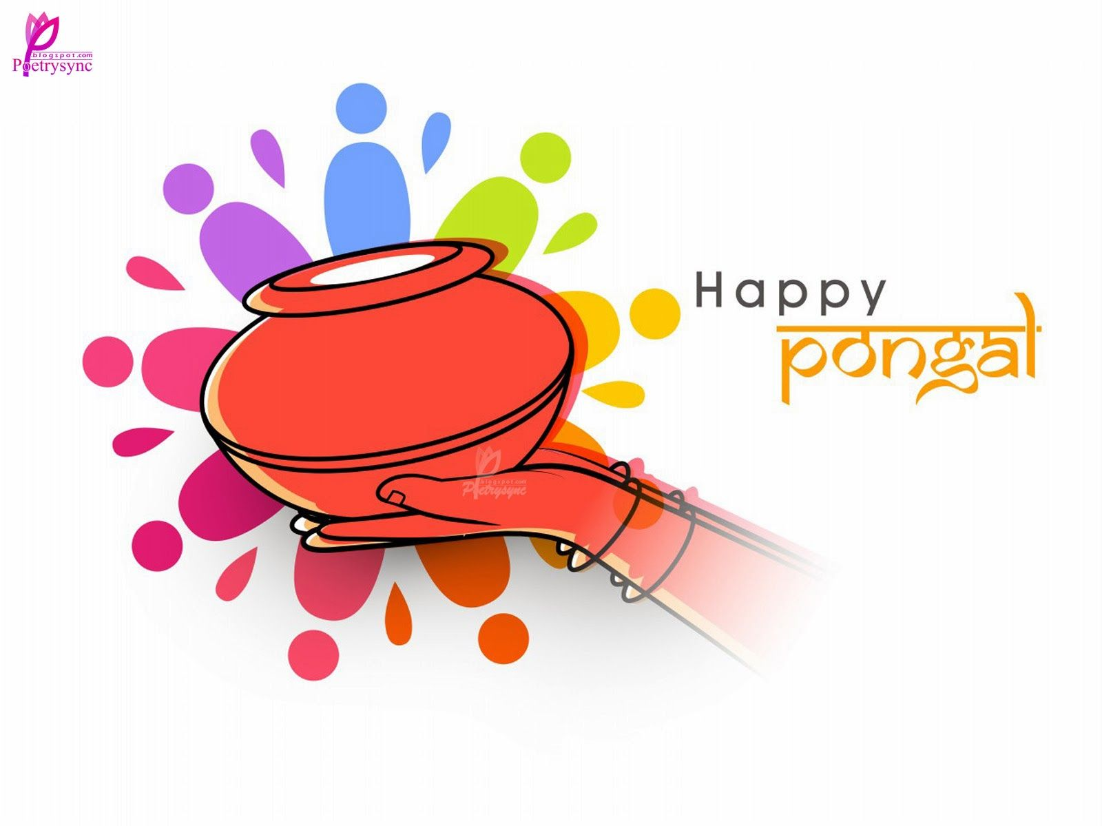 Happy Pongal Festival Wishes Card Image Wallpaper Pongal Wishes