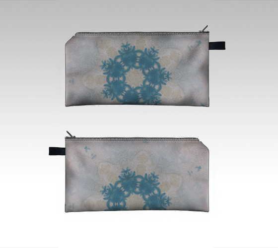 Coral Reef zipper pouch #1087