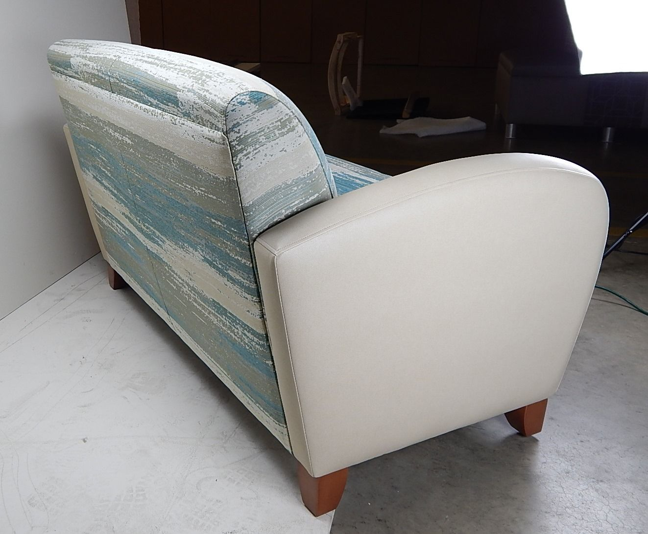 Crosby Loveseat With Seat|back In CF Stinson | Vapor | Color: Surf