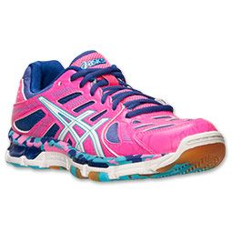 Women's Asics GEL-Volleycross Revolution Volleyball Shoes | Finish Line | Knockout  Pink/White
