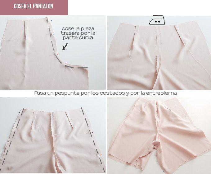 pantalones-cortos-diy | Confección y patrones pantalones femeninos ...