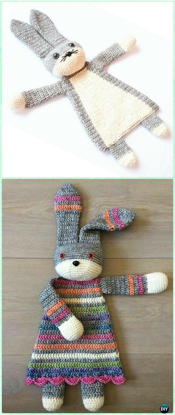 Patrón de crochet querido conejito de Ragdoll - regalos del bebé del ...