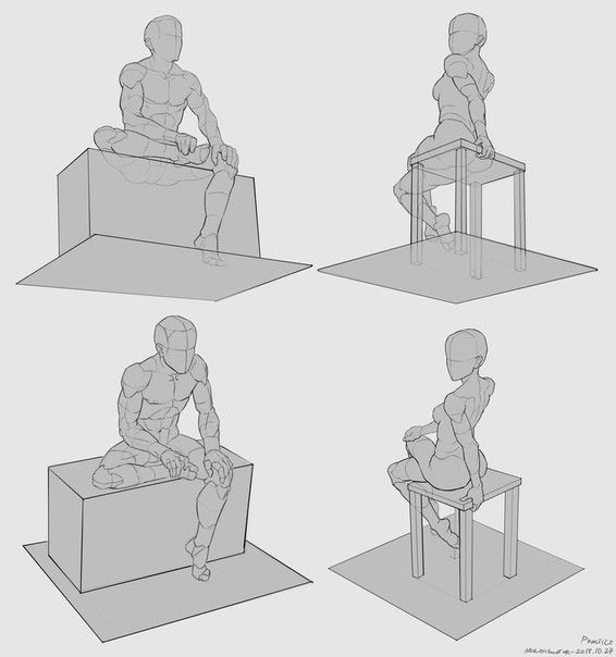 Chair Sitting Perspective Sitting Poses Sitting Pose Reference Drawings