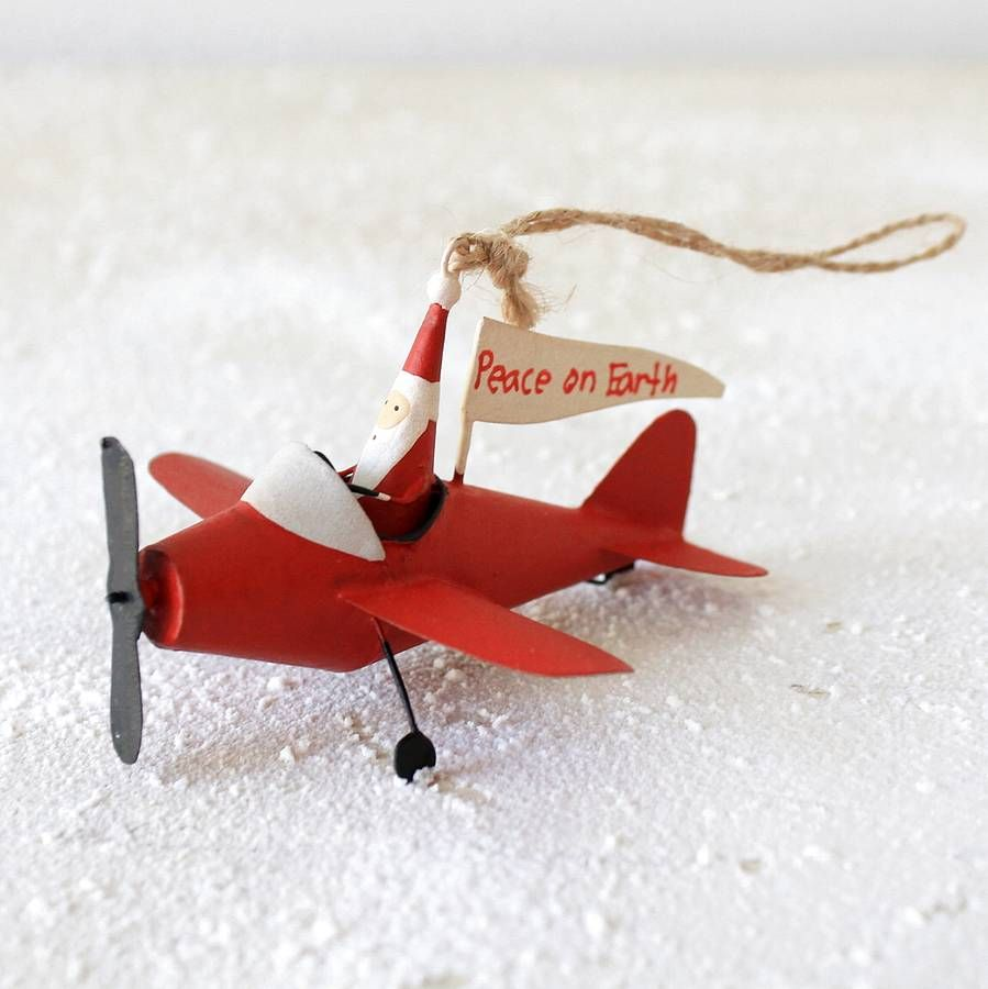 Airplane Christmas Decorations
