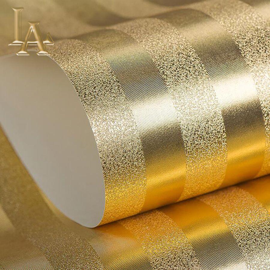 Luxury Gold Silver Metallic Textured Striped Wallpaper Modern Design Waterproof Embossed Foil Decorative Wall Paper Rolls Affiliate