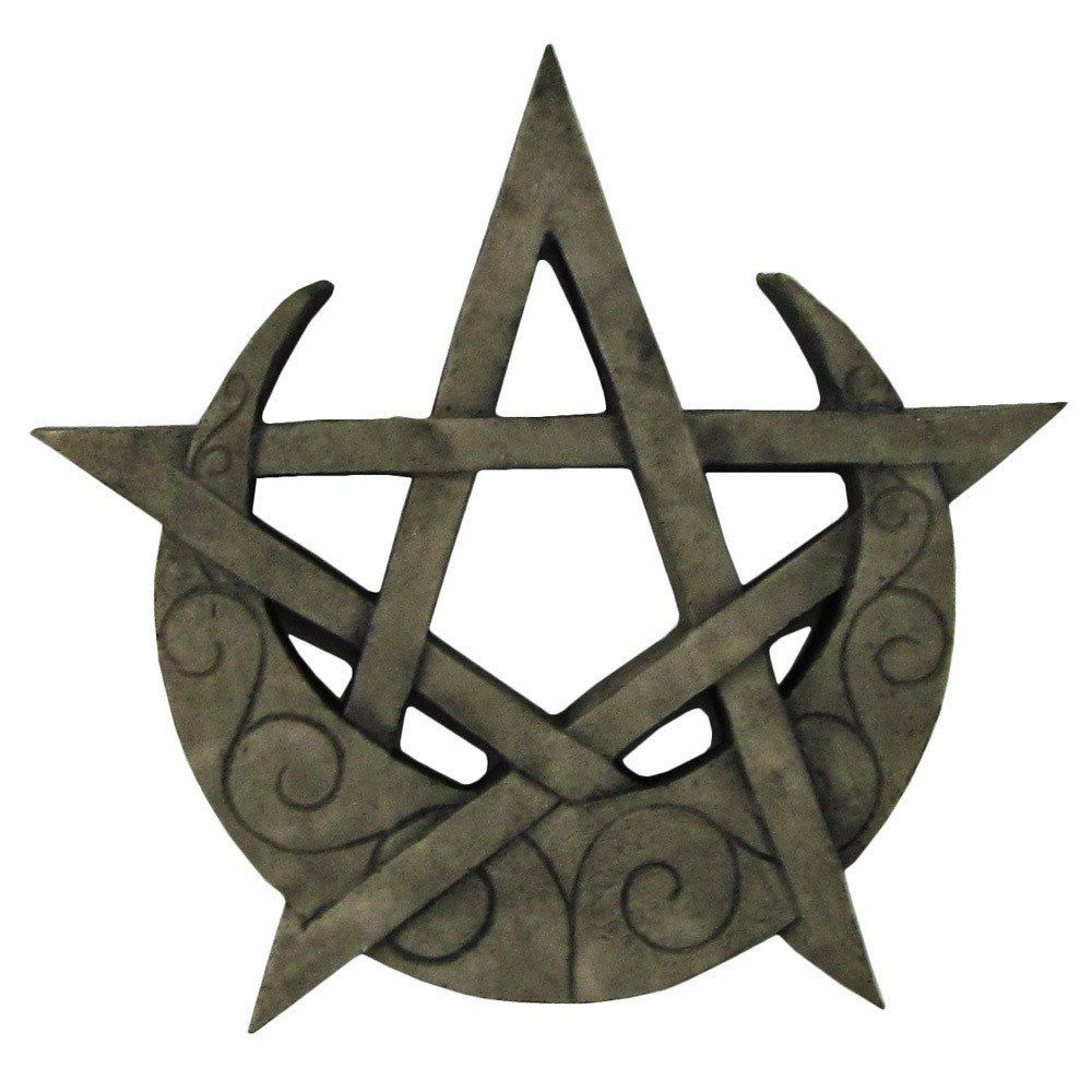 Crescent moon pentacle plaque remember for later pinterest crescent moon pentacle plaque biocorpaavc Images