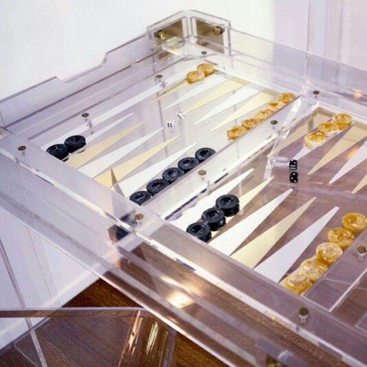 Lucite Backgammon Table. Backgammon Online > On.fb.me