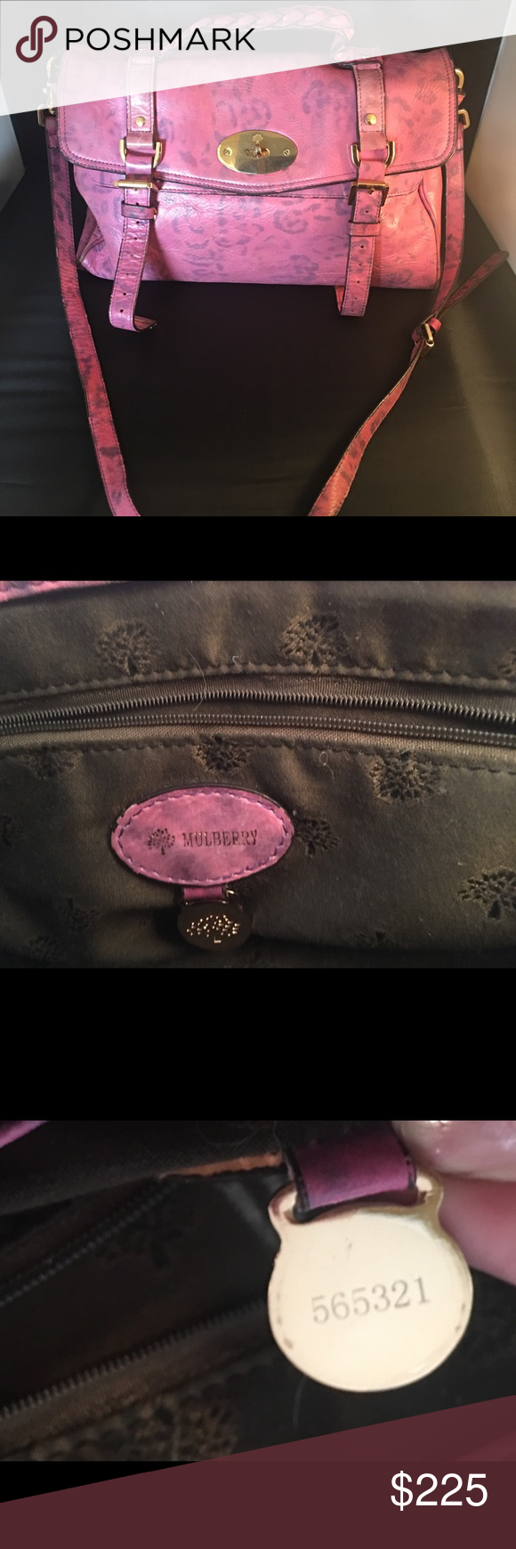 2068fd2d32 Mulberry Alexa pink leopard handbag crossbody Mulberry handbag