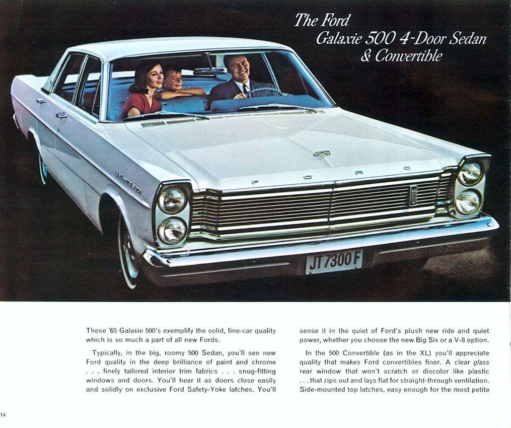 1965 Ford Galaxie 500 4 Door Sedan My First Car Used Paid