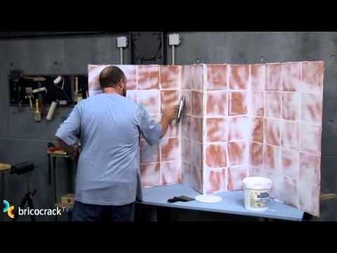 Tapar paredes alicatadas bricocracktv ideas para el - Papel vinilo para cocinas ...