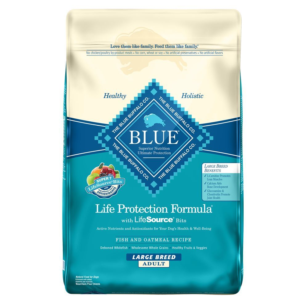 Blue Buffalo Life Protection Formula Large Breed Adult Dog Food - Fish & Oatmeal