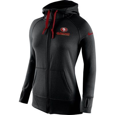 acd38bc2 Nike San Francisco 49ers Womens Black Warpspeed All Time Full-Zip ...