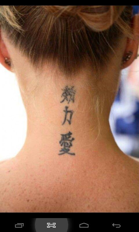Cuello Letras Para Tatuajes Tatuajes Letras Chinas Tatuajes Escritos