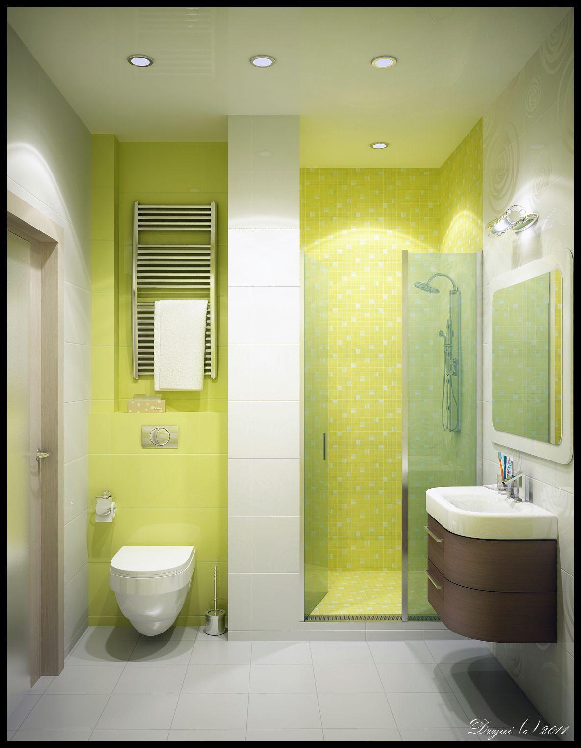 An Efficient Small Bathroom. | Bathrooms | Pinterest | Small ...