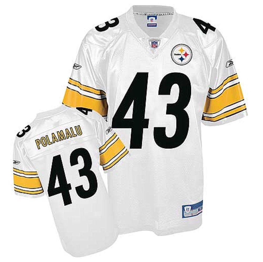 74cba436f Pittsburgh Steelers Troy Polamalu  43 Reebok Replica Screened 2XL Jersey   Reebok  PittsburghSteelers