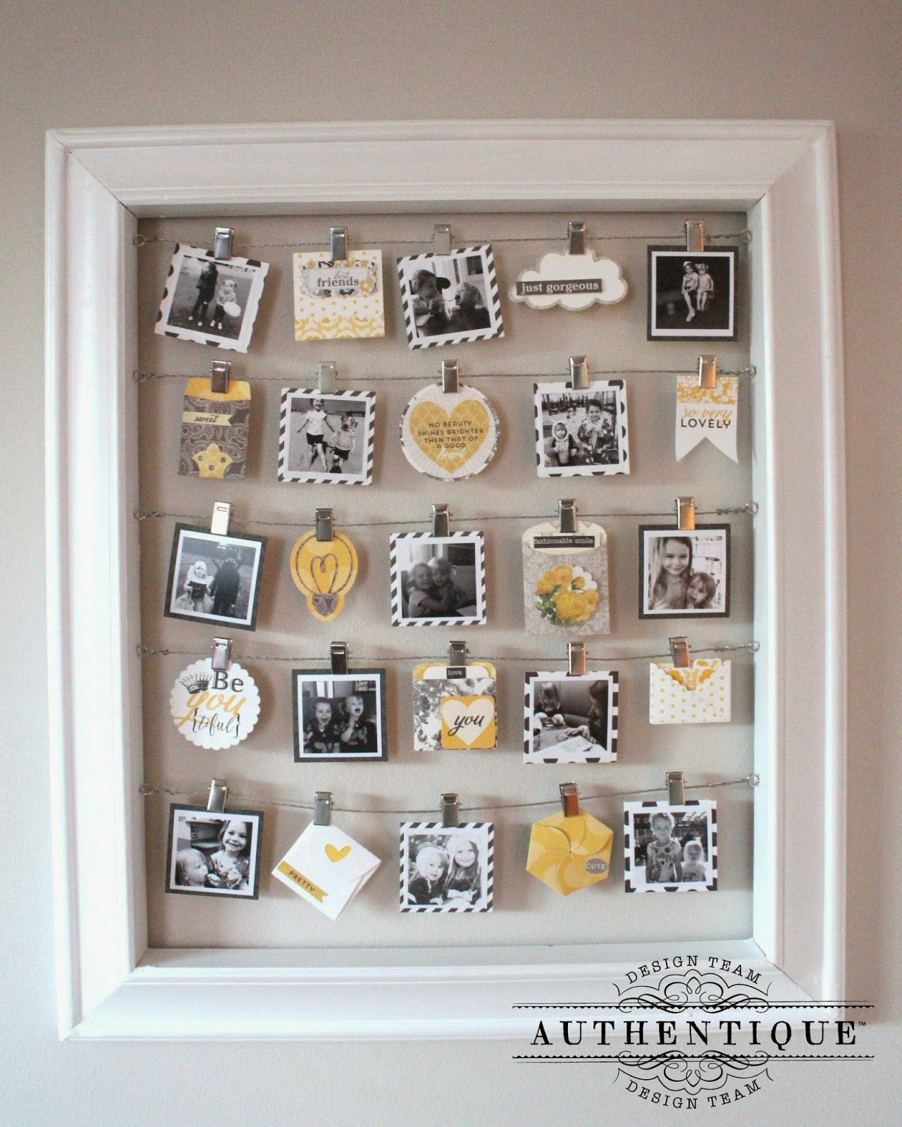How to scrapbook at home - Authentique Paper Beautiful Home Decor With Classique Beauty