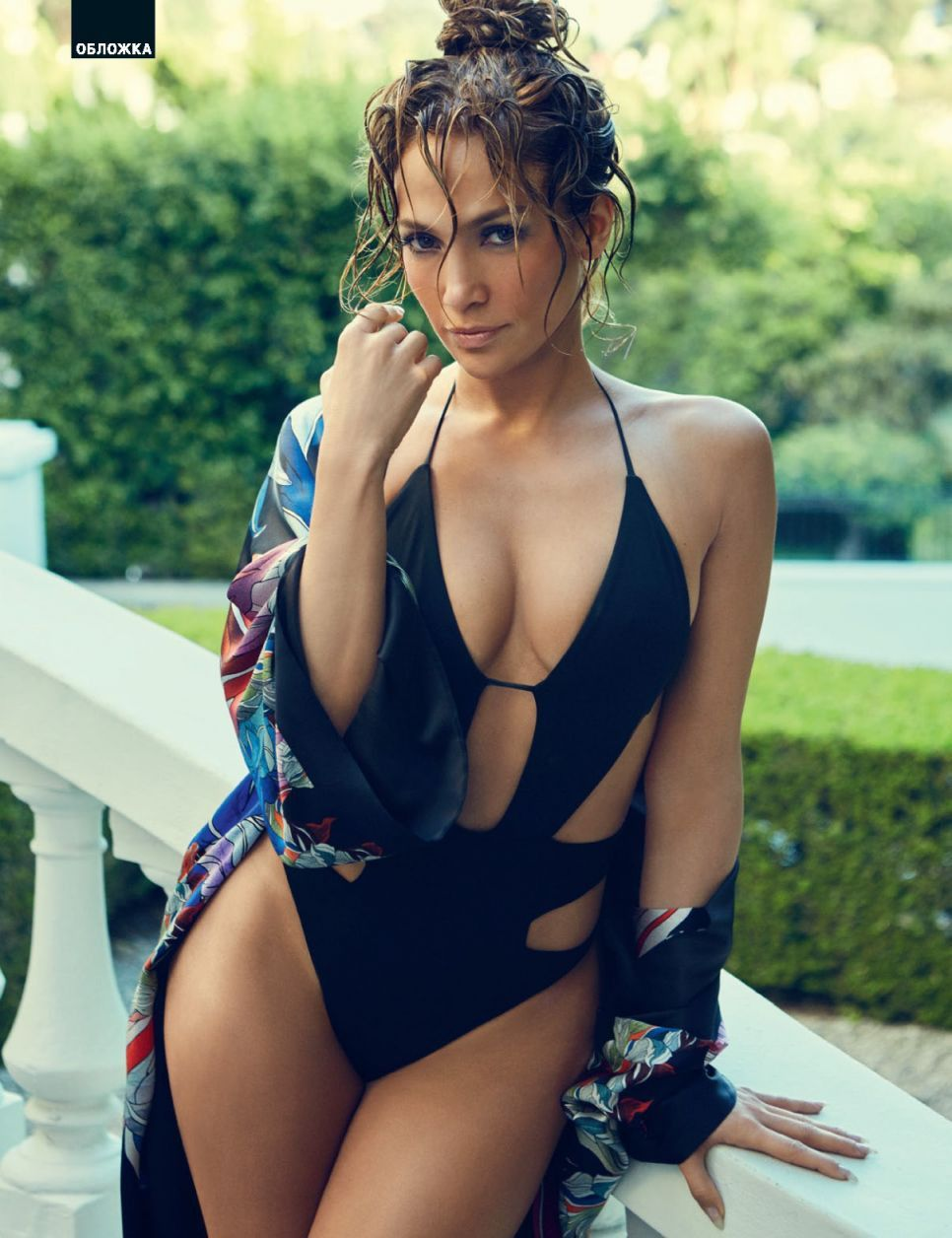 9b69299db075b Jennifer Lopez sizzles in a cut out revealing one piece swimsuit ...