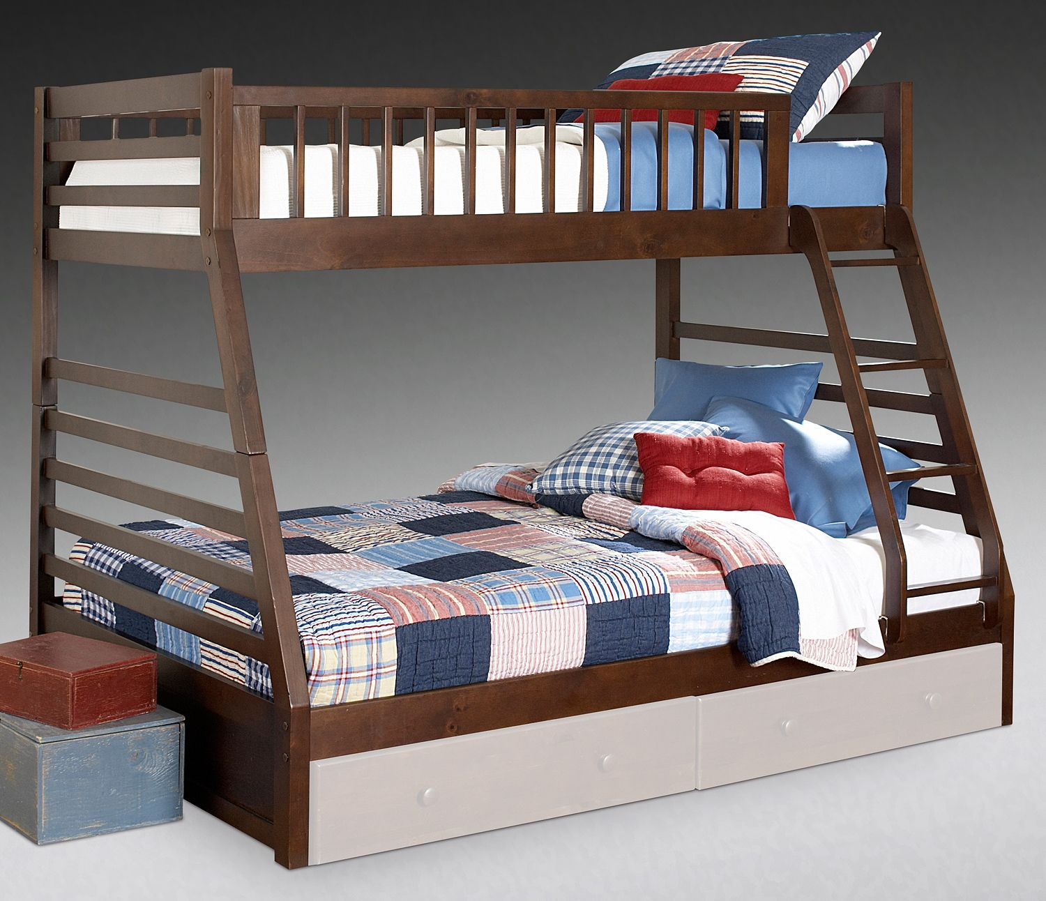 Twin Full 499 Leons Bunk Beds With Storage Twin Full Bunk Bed