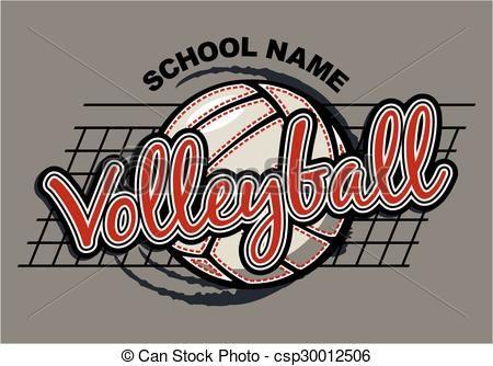 Line Design Clipart Free : Vector volleyball design stock illustration royalty free