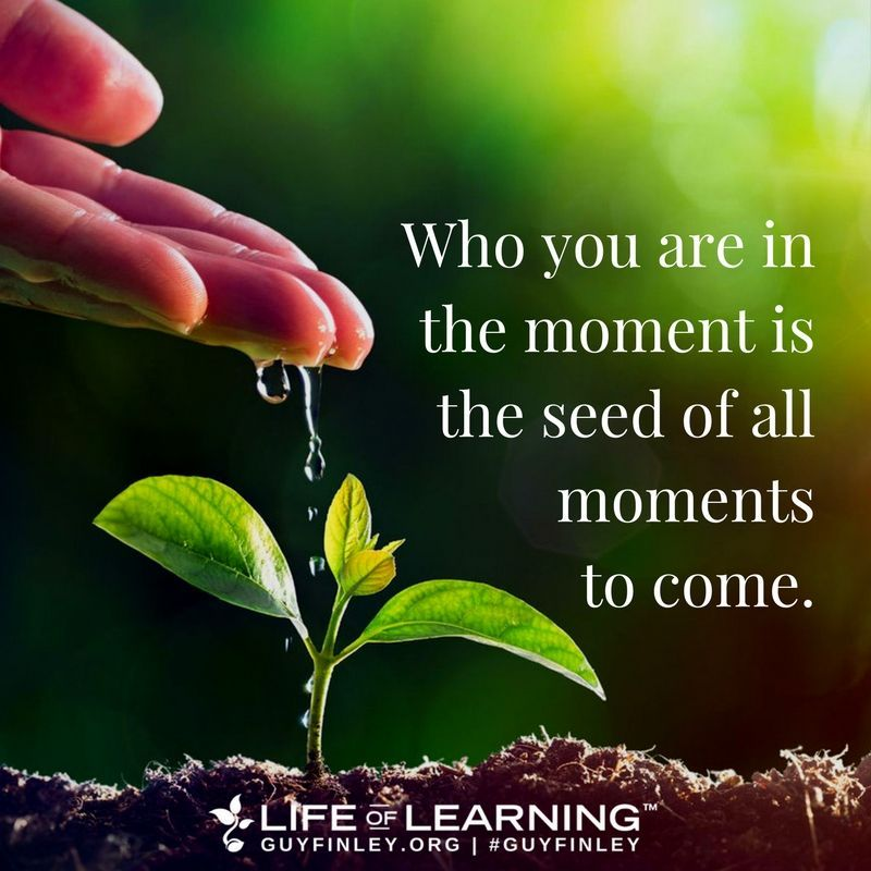 Who You Are In The Moment Is The Seed Of All Moments To Come