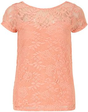 3662fb530c5e48 Peach lace scoop back top on shopstyle.com | Womens Fashion Designs ...