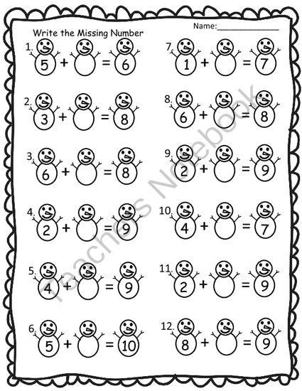 teachers notebook winter math worksheet freebie math pinterest math worksheets teacher. Black Bedroom Furniture Sets. Home Design Ideas