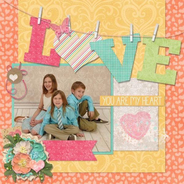 LOVE - Scrapbook.com #scrapbook