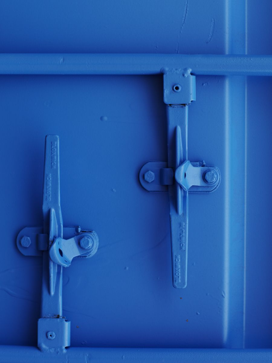 Detail of a blue intermodal container // Weekday Carnival