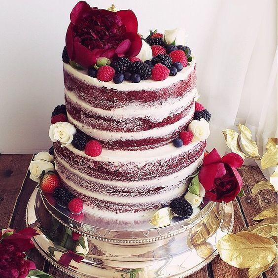 Naked Red Velvet Birthday Cake Kohta Juhlitaan Birthday Party