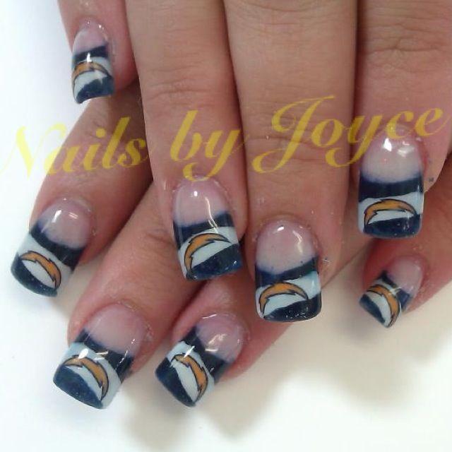 San Diego Chargers | Nail art... | Pinterest | San diego ...