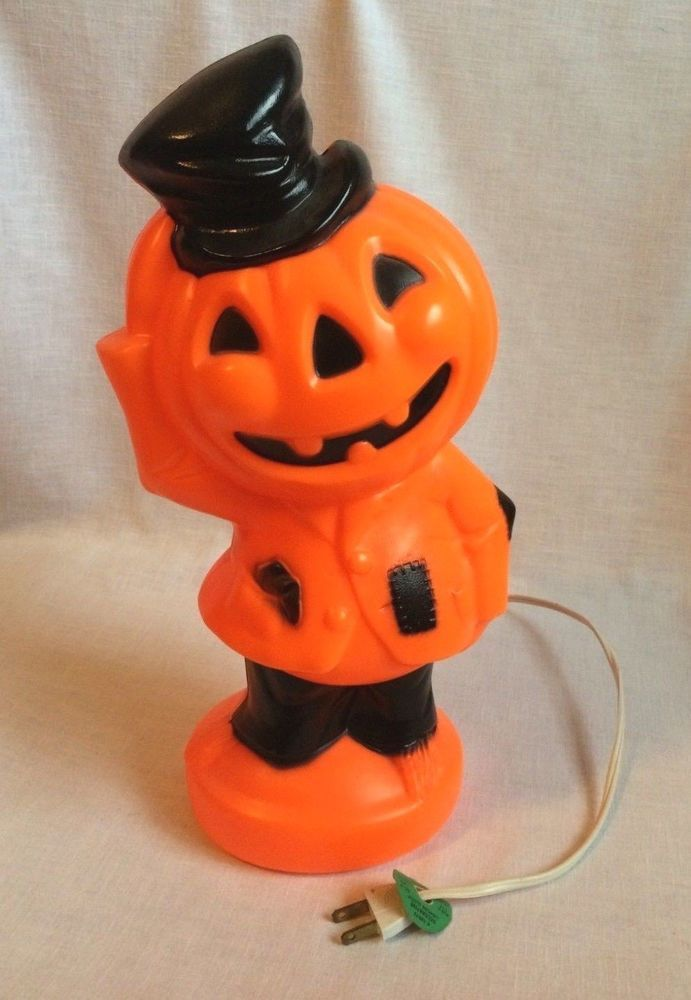 Details about Vintage 14 inch Empire Halloween Pumpkin Man Jack-O
