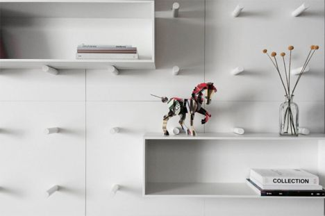Movable Customizable Modular Wall Storage System