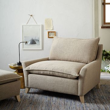 Bliss Down-Filled Chair-and-a-Half & Bliss Down-Filled Chair-and-a-Half | Sitting area Bliss and Floor lamp