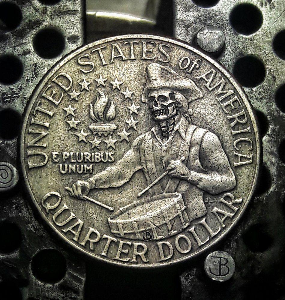 1881 S Morgan Dollar W// Grim Reaper Skull Head Fantasy Issue Novelty Coin