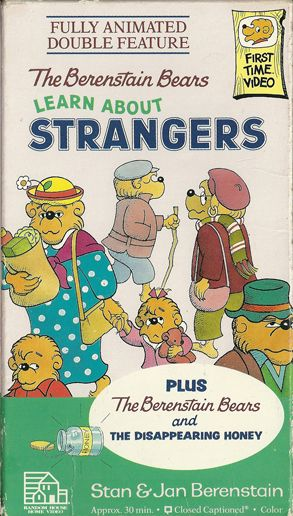 The Berenstain Bears Learn About Strangers Disappearing Honey VHS
