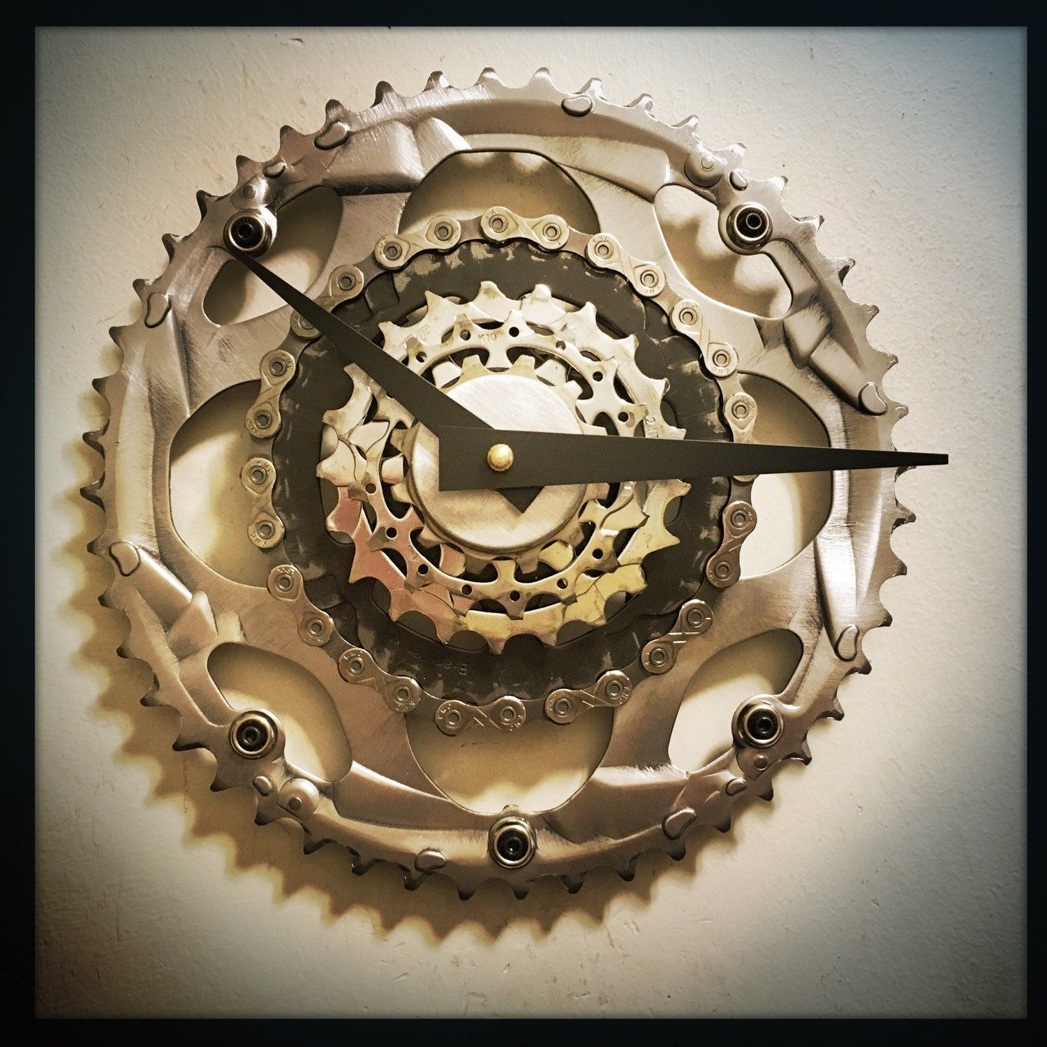 Steampunk wall clock bicycle gift steampunk decor mid century steampunk wall clock bicycle gift steampunk decor mid century modern wall clock industrial decor gift for cyclist unique wall clock amipublicfo Images